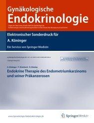 Endokrine Therapie des Endometriumkarzinoms und seiner ...