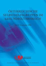 österreichische selbsthilfegruppen im gesundheitsbereich