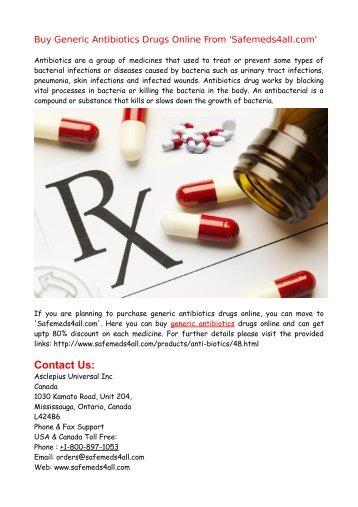 Buy Generic Antibiotics Drugs Online