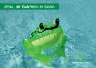 Alfred, der Badefrosch, genießt einen Wellness-Tag