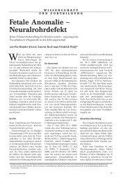 Fetale Anomalie – Neuralrohrdefekt - Ärztekammer Nordrhein