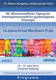 Wissenschaftliches Programm - Arbeitsgemeinschaft ...