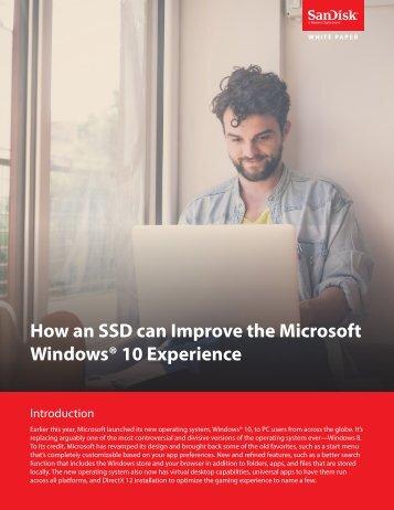 Windows® 10 Experience