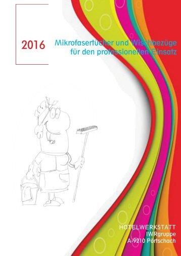 NEU  07.16  HOTELWERKSTATT 2016 MIKROPUTZTUCH