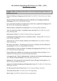 Alle Artikel der Regensburger RU-Notizen von 1/1982 – 1/2011 ...