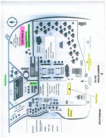 Gordon Castle Gammes Map 2016