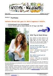 Infothek Waldkinder - Nathalie Morand - überleben im Wald mit Radio Zürisee