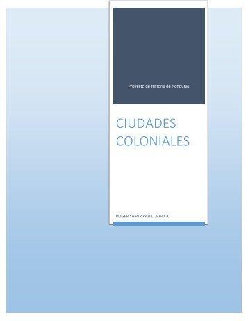 PROYECTO-ciudades coloniales