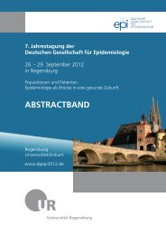 Abstractband, S. - 7. Jahrestagung der Deutschen Gesellschaft für ...