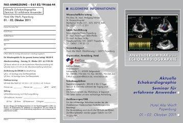 anwenderseminar in der echokardiographie - KelCon GmbH