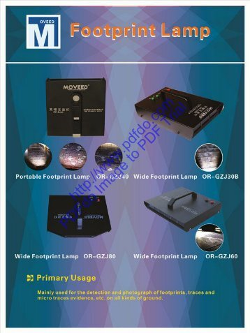 Moveed Forensic Science for CSI (Light source in ALS, Laser, IR, UV)