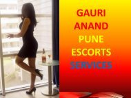 Pune Call Girls Services by Gauri Anand