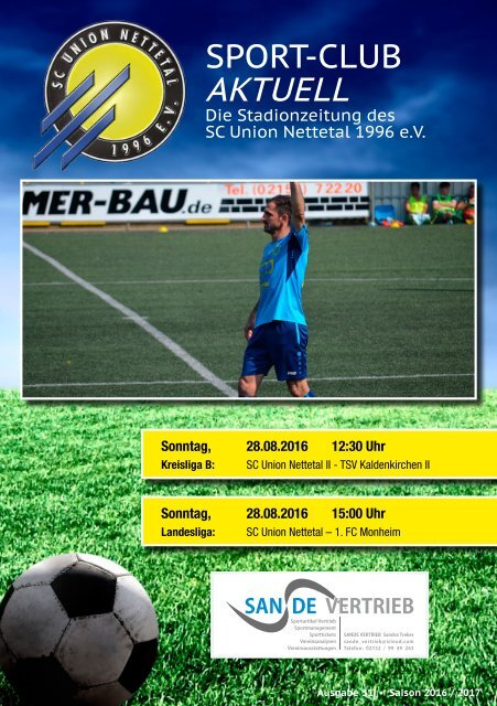 Sport Club Aktuell - Ausgabe 31 - 28.08.2016