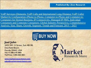VoIP Services Market - Growing at a CAGR of 9.1% between 2016 and 2021