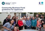 Community Business Fund guidelines for applicants