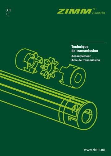 Technique de transmission ZIMM | XIII - FR