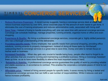 Concierge PPT