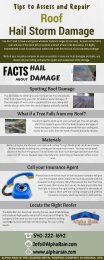 Tips to Assess and Repair Roof Hail Damage