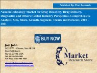 Nanobiotechnology Market Growing at a CAGR of 8.5% between 2016 and 2021