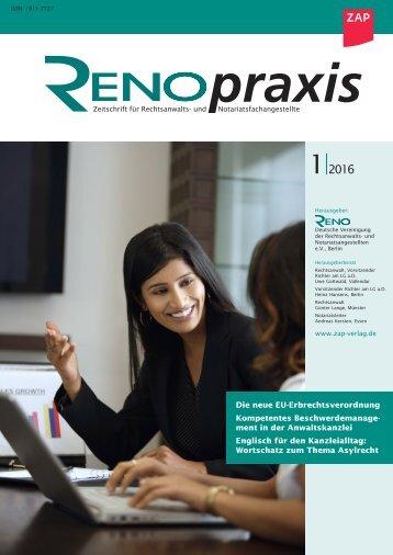 RENOpraxis 01/2016