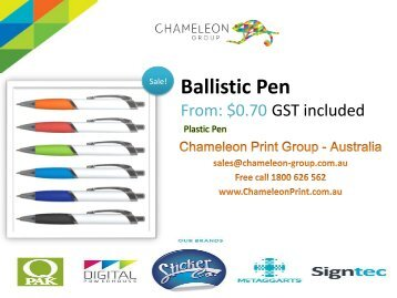 Ballistic Pen  - Chameleon Print Group