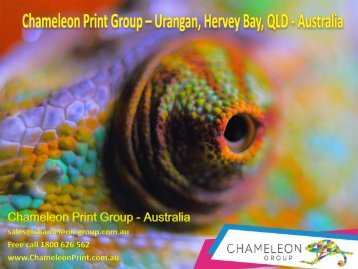 Chameleon Print Group – Urangan, Hervey Bay, QLD - Australia