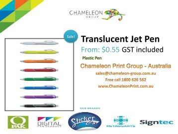 Translucent Jet Pen - Chameleon Print Group