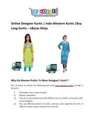 Online Designer Kurtis   Indo-Western Kurtis   Buy Long Kurti   EBazar.Ninja