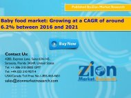 Baby food market: Growing at a CAGR of around 6.2% between 2016 and 2021