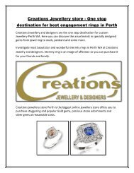 Best and Unique Engagement Rings in Perth – Creations Jewellery