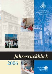 Jahresrückblick 2006 - Krankenhaus Barmherzige Brüder Regensburg