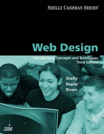(Shelly Cashman Series) Gary B. Shelly, H. Albert Napier, Ollie N. Rivers-Web design_ introductory concepts and techniques  -Cengage Learning (2008)