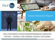 Potassium Hexafluorophosphate Industry, 2011-2021 Market Research