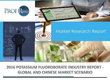 Potassium Fluoroborate Industry, 2011-2021 Market Research