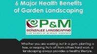6 Major Health Benefits Of Garden Landscaping