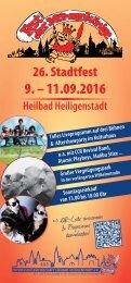 Stadtfest 2016 Programm