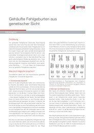 Gehäufte Fehlgeburten aus genetischer Sicht - Endokrinologikum