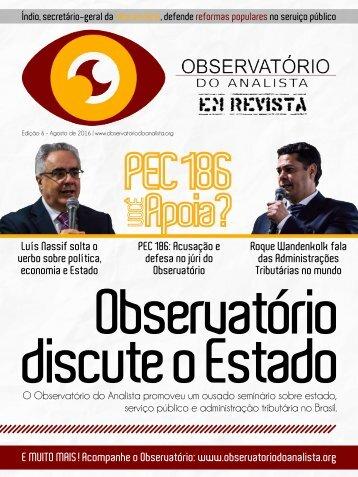 OBSERVATÓRIO DO ANALISTA EM REVISTA - 6ª EDIÇÃO