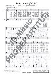 Rothaarsteig-Lied (SATB)