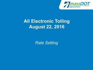 All Electronic Tolling August 22 2016