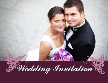 Attractive Graphics Wedding invitation Example