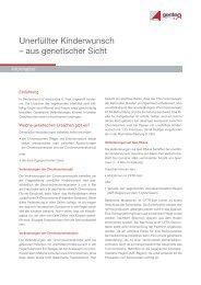 Unerfüllter Kinderwunsch – aus genetischer Sicht - Endokrinologikum