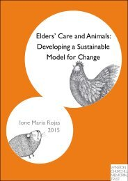 Elders' Care and Animals Developing a Sustainable Model for Change