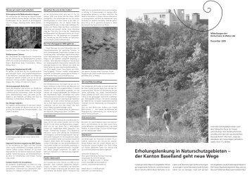 der Kanton Baselland geht neue Wege - Hintermann & Weber AG