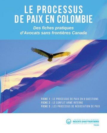 LE PROCESSUS DE PAIX EN COLOMBIE