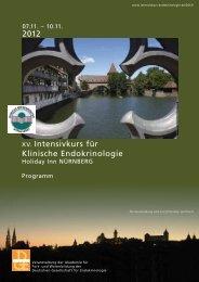 Programm - Intensivkurs Endokrinologie