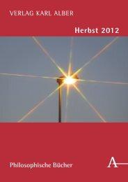 Weitere Neuerscheinungen im Herbst 2012 - Verlag Karl Alber