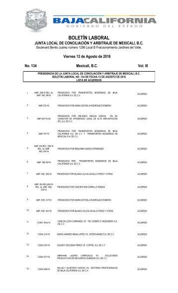 No. 134  12 AGOSTO 16
