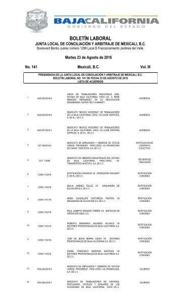 No. 141 23 AGOSTO 16