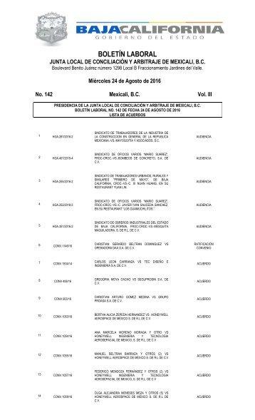No. 142 24 AGOSTO 16